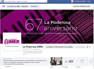 facebook La Poderosa IMER