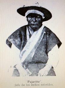 Jacinto Pérez Chixtoj (Pajarito), jefe de los chamulas insurrectos.