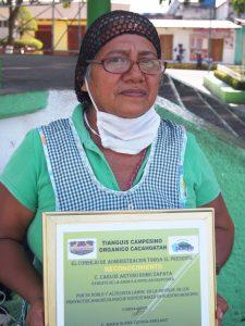 María Elvira Ochoa Arellano, presidenta del Tianguis campesino Orgánico Campesino