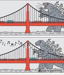 Godzilla arpista