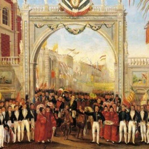 Entrada del Ejército Trigarante a la Ciudad de México el 27 de septiembre de 1821   Relatos e Historias en México Visitar Autor: Krause, Johansen