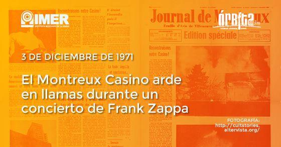 Cronología del rock: El Casino Montreaux arde en llamas.
