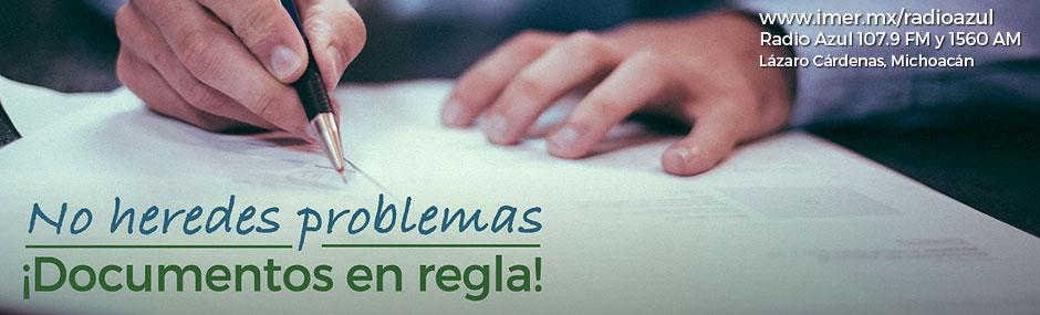 No heredes problemas, documentos en regla