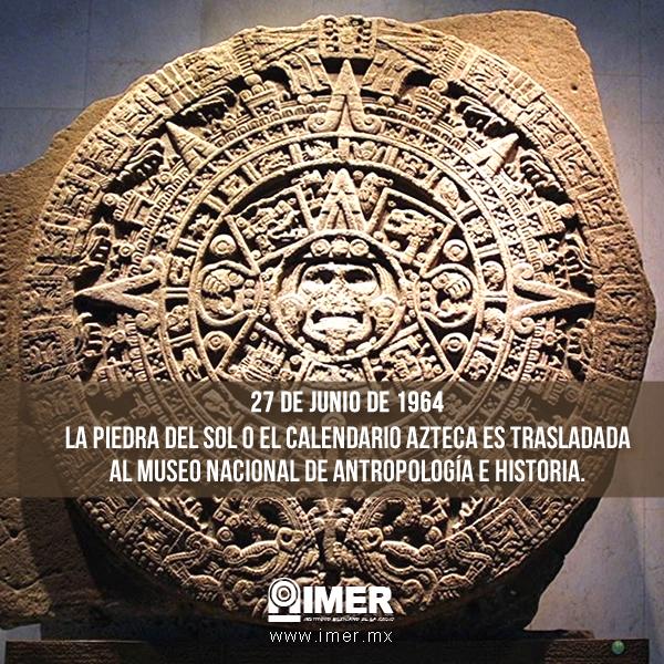 27 De Junio El Calendario Azteca Se Traslada Al Museo De