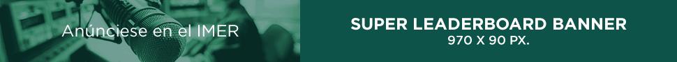 Super leaderboard banner, 970 x 90 px.