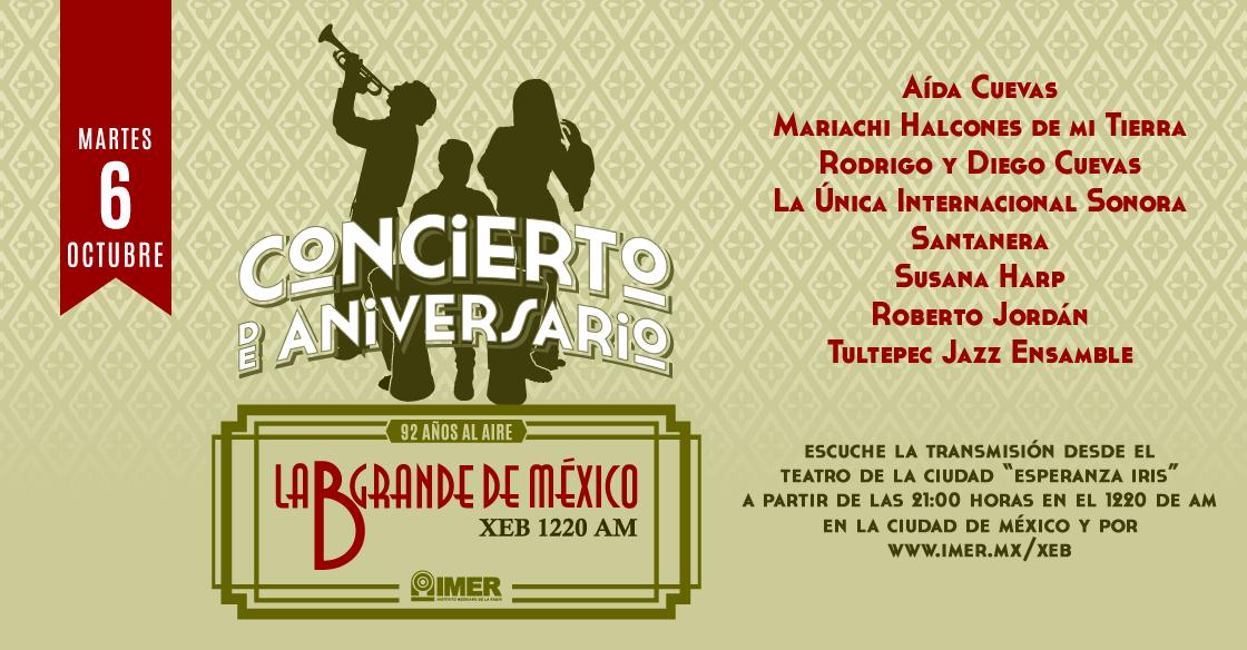 Concierto de Aniversario, XEB 92 años al aire